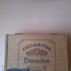 Cajas y cajitas metálicas: CAJA DE MADERA CIGARRITOS DUCADOS CAPA SUMATRA. Lote 42374308