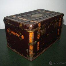 Cajas y cajitas metálicas: CAJA HOJALATA BAULITO.. Lote 42618115