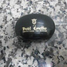Cajas y cajitas metálicas: CAJITA JABONERA HOTEL CANCILLER CERVERA. VACIA. Lote 42835535