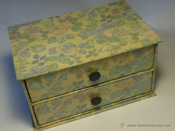 Peque a cajonera decorada de cart n comprar cajas antiguas y cajitas met licas en - Cajas de carton decoradas baratas ...