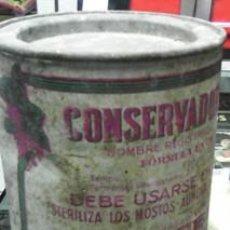 Cajas y cajitas metálicas: LATA SERIGRAFIADA CONSERVADOR ENOLÓGICO, GIL CEPEDA, BENAVENTE. Lote 43286100