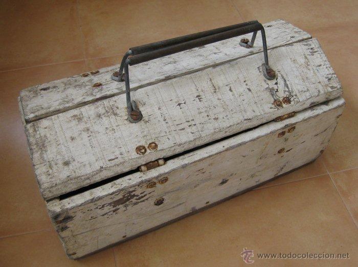 Preciosa caja antigua en madera para herramien comprar - Caja de herramientas precio ...