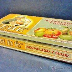 Cajas y cajitas metálicas: CAJA DE MERMELADAS Y DULCES 'BEBE'. INDUSTRIAS MUERZA S.A. -SAN ADRIÁN (NAVARRA).. Lote 43447186