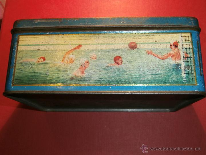Cajas y cajitas metálicas: Muy antigua caja metálica - Diversos deportes, tenis, waterpolo - Sky - Sin determinar - Foto 2 - 54698941
