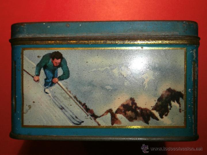 Cajas y cajitas metálicas: Muy antigua caja metálica - Diversos deportes, tenis, waterpolo - Sky - Sin determinar - Foto 3 - 54698941