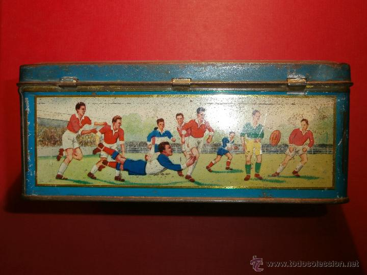 Cajas y cajitas metálicas: Muy antigua caja metálica - Diversos deportes, tenis, waterpolo - Sky - Sin determinar - Foto 4 - 54698941