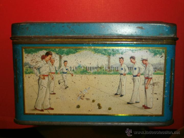 Cajas y cajitas metálicas: Muy antigua caja metálica - Diversos deportes, tenis, waterpolo - Sky - Sin determinar - Foto 5 - 54698941
