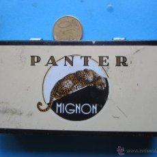 Cajas y cajitas metálicas: CAJITA METALICA , CIGARRILLOS PANTER MIGNON , VER FOTOS. Lote 43520378