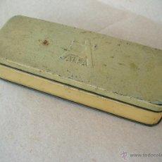 Cajas y cajitas metálicas: CAJA ALFA PARA ACCESORIOS DE MAQUINA DE COSER. Lote 43666231