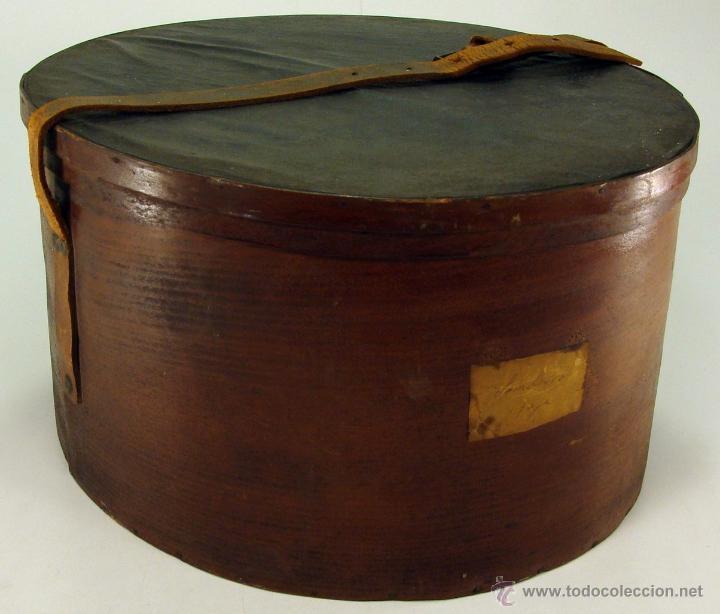 Caja de madera para sombreros sombrerera fabr comprar cajas antiguas y cajitas met licas en - Cajas de madera barcelona ...