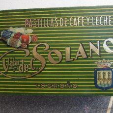 Cajas y cajitas metálicas - antigua caja metalica pastillas de cafe y leche , solano , logroño - 43927060