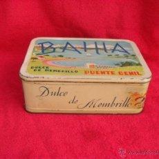 Cajas y cajitas metálicas: BONITA CAJA DULCE MENBRILLO BAHIA,TAMAÑO GRANDE. Lote 44016040