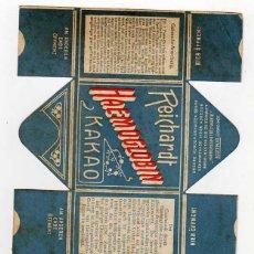 Boîtes et petites boîtes métalliques: REICHHARDT HAEMOGLOBIN KAKAO. ANTIGUA CAJA PROCEDENTE DE MUESTRARIO. AÑOS 1900S. Lote 44280907