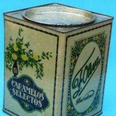 Cajas y cajitas metálicas: CARAMELOS SELECTOS F. OLIVA, BARCELONA. LITOGRAFIA G. DE ANDREIS. CAJA DE LATA LITOGRAFIADA. Lote 44350319