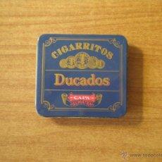Cajas y cajitas metálicas: CAJITA DE TABACO DUCADOS -CAPRA SUMATRA. Lote 44356552