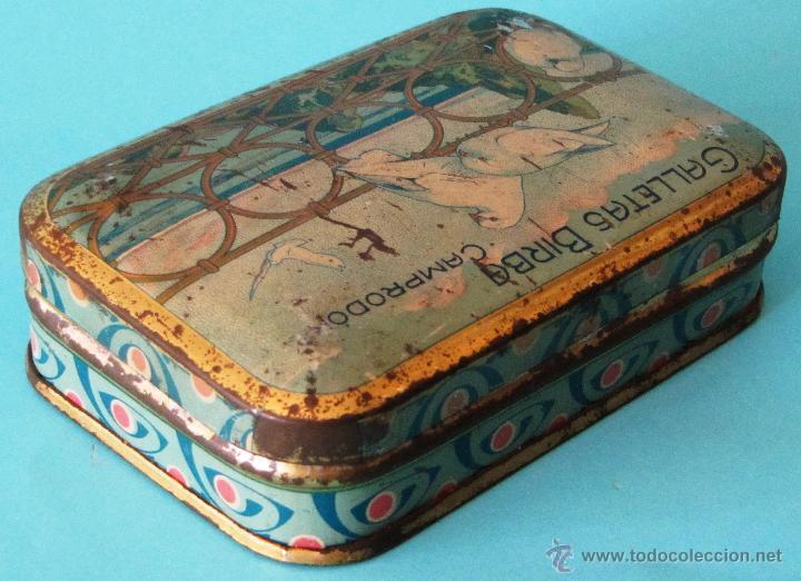 Cajas y cajitas metálicas: GALLETAS BIRBA. COMPRODON. CAJA DE LATA LITOGRAFIADA - Foto 2 - 44357145