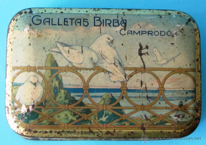 Cajas y cajitas metálicas: GALLETAS BIRBA. COMPRODON. CAJA DE LATA LITOGRAFIADA - Foto 3 - 44357145