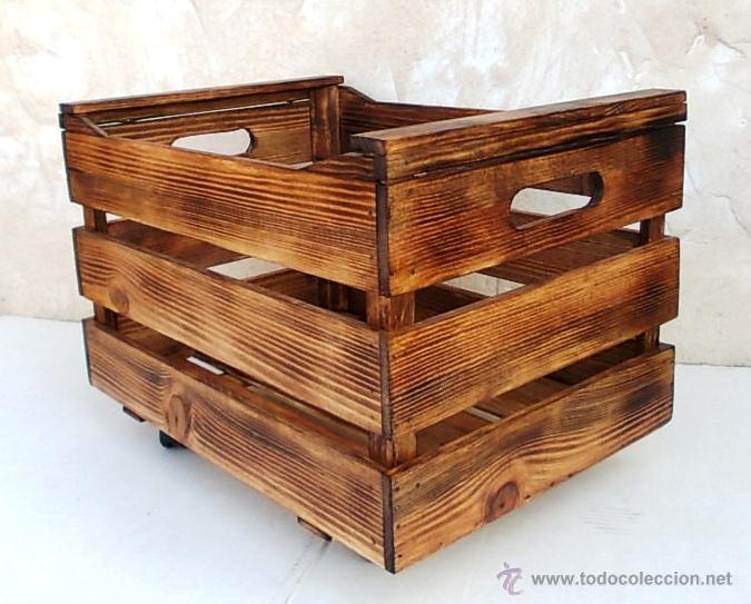 Caja fruta de madera comprar cajas antiguas y cajitas met licas en todocoleccion 83869667 - Cajas de madera online ...