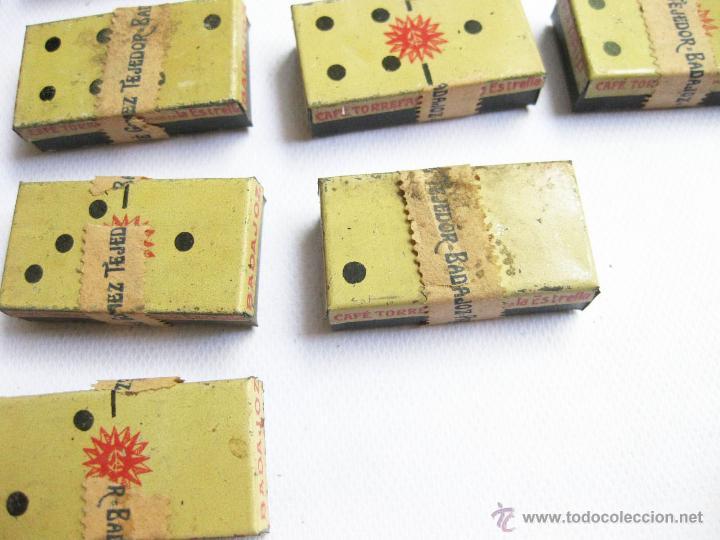 Cajas y cajitas metálicas: CAJA DE LATA DE CAFES LA ESTRELLA. DOMINO PUBLICITARIO DE CAJAS DE LATA. MUY RARO - Foto 6 - 45073481