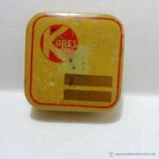 Cajas y cajitas metálicas: ANTIGUA CAJITA METALICA-KORES. Lote 45167452