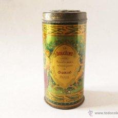 Boîtes et petites boîtes métalliques: PRECIOSO BOTE DE LATA LITOGRAFIADA DE POLVOS DE TALCO DOLCEINE. DE DORIN PARIS. Lote 45284012
