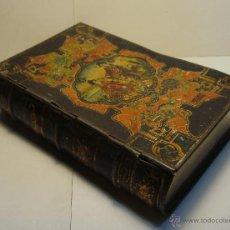 Cajas y cajitas metálicas - Antigua caja de hojalata litografiada. Confitería de Marón. Alcalá de Henares. - 45424828