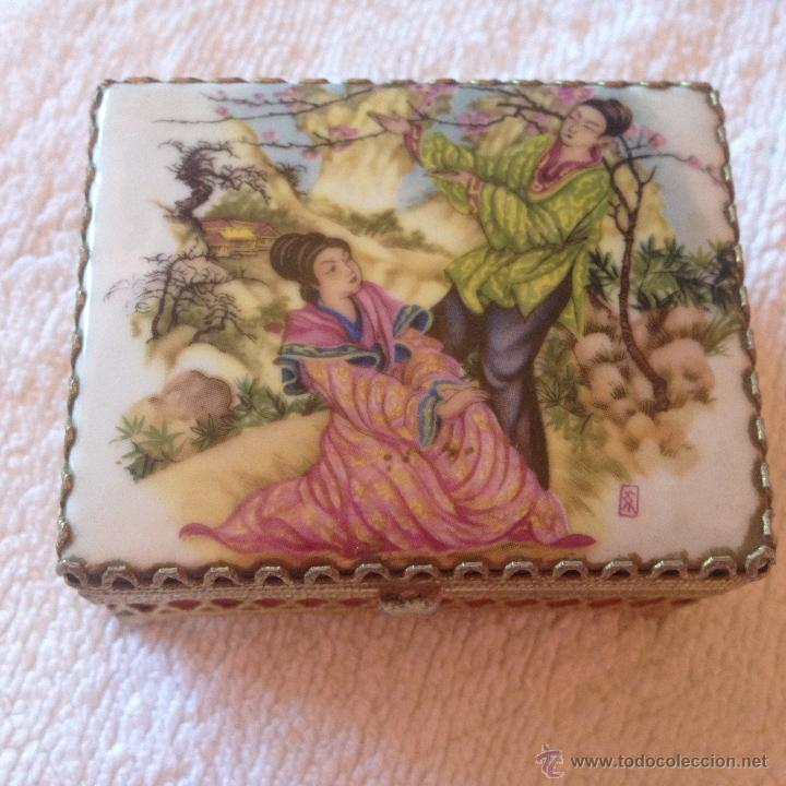Cajas y cajitas metálicas: ANTIGUA CAJA ORIENTAL - Foto 5 - 45446429