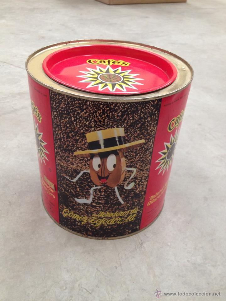 Cajas y cajitas metálicas: ANTIGUA LATA CAFES LA ESTRELLA -FORMATO GRANDE - Foto 2 - 45652424