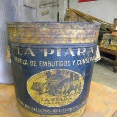 Cajas y cajitas metálicas: GRAN BOTE DE GRASA DE CERDO. Lote 45789449