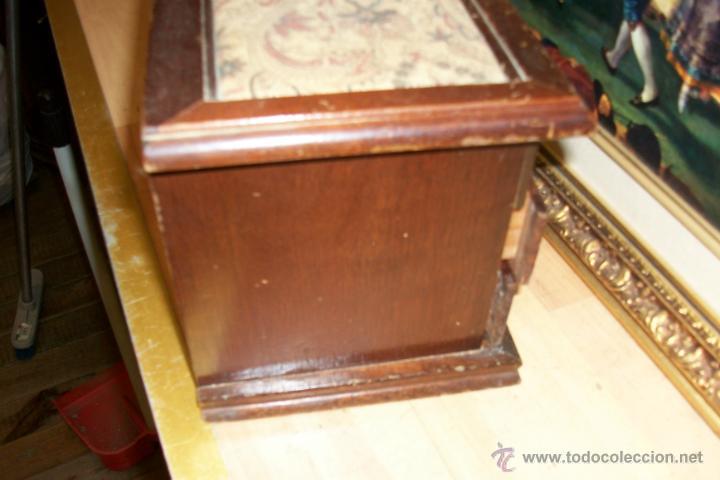 Cajas y cajitas metálicas: ANTIGUA CAJA DE MADERA - Foto 7 - 45947620