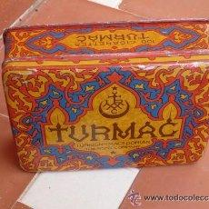 Cajas y cajitas metálicas: CAJA TABACO TURMAC. Lote 46122643