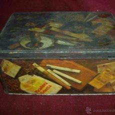 Cajas y cajitas metálicas: CAJA CHAPA COLA CAO AÑOS 60 TABACO. Lote 46127910