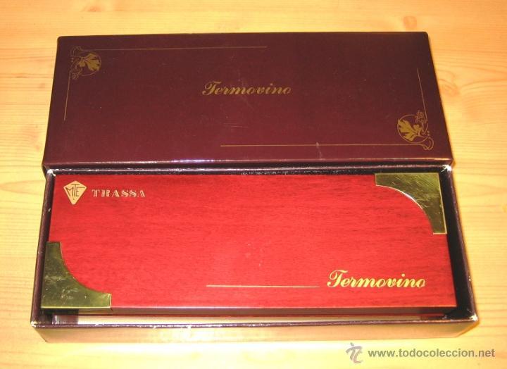 Cajas y cajitas metálicas: Termometros para vinos Termovino en estuche de madera raiz- - Foto 2 - 46147829