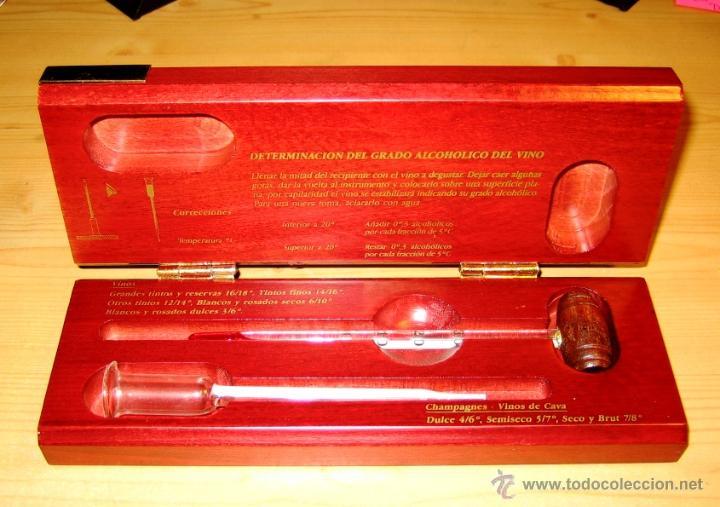 Cajas y cajitas metálicas: Termometros para vinos Termovino en estuche de madera raiz- - Foto 3 - 46147829