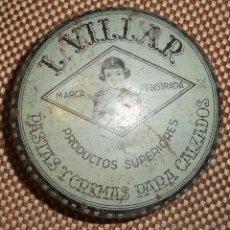 Cajas y cajitas metálicas: CAJA METALICA L. VILLAR. PASTAS Y CREMAS PARA CALZADOS. . Lote 46325100