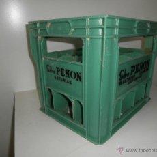 Cajas y cajitas metálicas: VIEJA CAJA DE SIDRA PEÑON DE CARREÑO ASTURIAS. Lote 46337589