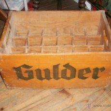 Cajas y cajitas metálicas: ANTIGUO CAJON DE CERVEZA GULDER- BURGOS. Lote 46654395