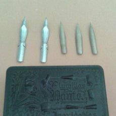 Cajas y cajitas metálicas: CAJA DE PLUMILLAS DANTE. Lote 46997081