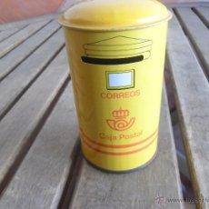 Cajas y cajitas metálicas: HUCHA CORREOS CAJA POSTAL EN METAL. Lote 46997595