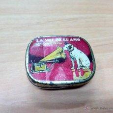 Cajas y cajitas metálicas: CAJA METALICA AGUJAS GRAMOFONO LA VOZ DE SU AMO. Lote 47018239
