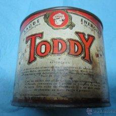 Cajas y cajitas metálicas: ANTIGUA ANTIGUO LATA BOTE DE TODDY AÑOS 50-60. Lote 47047960