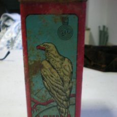 Cajas y cajitas metálicas: CAJA DE LATA DE POLVORA EL AGUILA. Lote 47136099