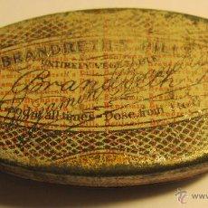 Cajas y cajitas metálicas: CAJA METALICA B. BRANDRETHS. REVERSO EN CASTELLANO. 5 X 2,5 X 1,3 CM. Lote 47370956