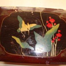 Cajas y cajitas metálicas - ANTIGUA CAJA CAJITA EPOCA ART-DECO LACADA DECORACION FLORAL, 1920 - 47754049