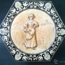Cajas y cajitas metálicas: HUNTLEY & PALMERS HARVEST BISCUIT TIN. Lote 47792375