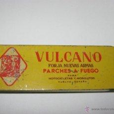 Cajas y cajitas metálicas: CAJA DE PARCHES VULCANO. Lote 47803797