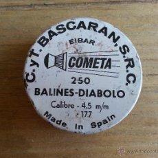 Casse e cassette metalliche: ANTIGUA LATA DE BALINES DIABOLO VACIA. Lote 99070099