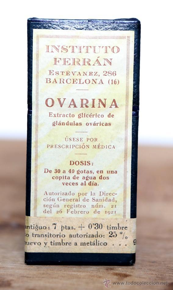 medicamento precintado años 20 ovarina insti comprar cajas