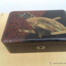 Cajas y cajitas metálicas: CAJA ANTIGUA ORIENTAL. Lote 48007391