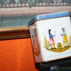 Cajas y cajitas metálicas: ANTIGUA CAJA DE GALLETAS LA PALUD FRANCESA. Lote 48017003